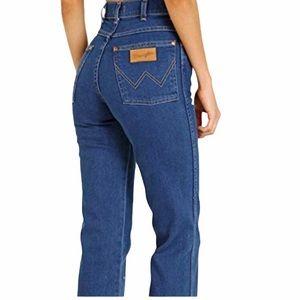Vintage Wrangler cowboy cut straight slim jeans